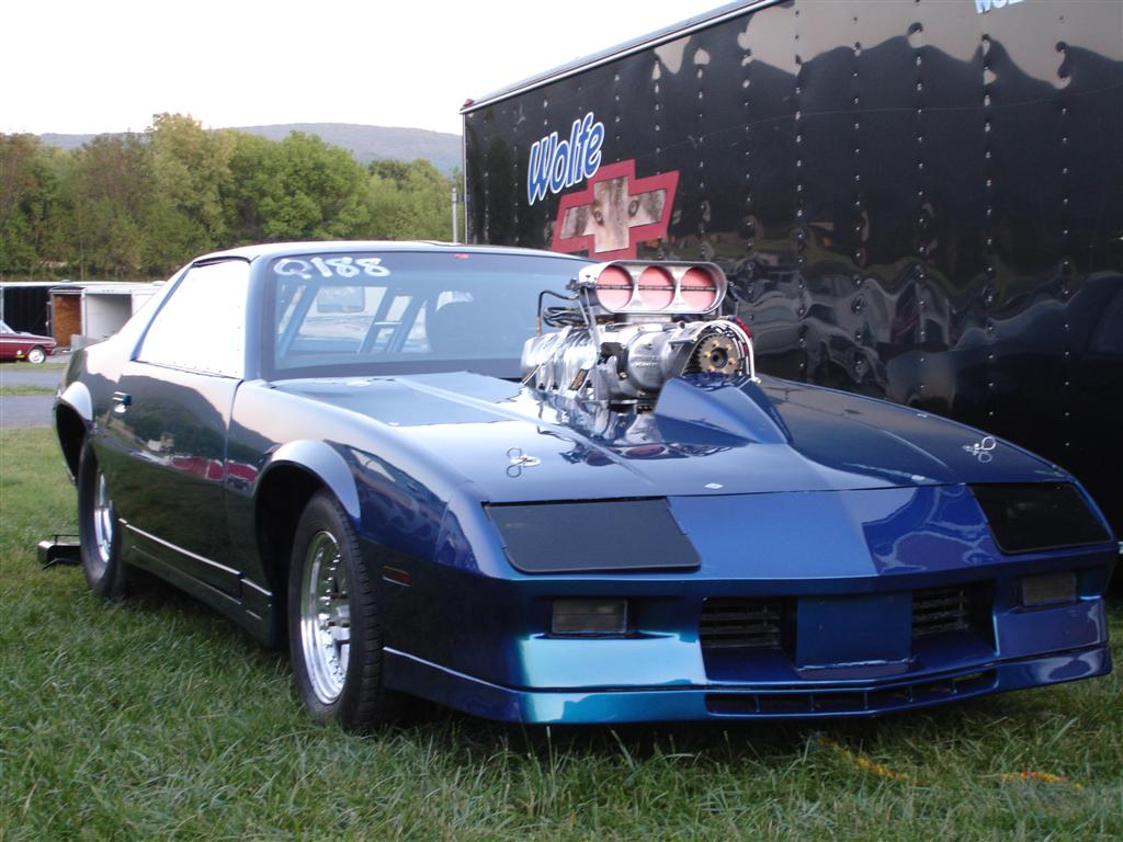 Wolfe Racing 82 Camaro, blower with Enderle bug catcher hat, 2007